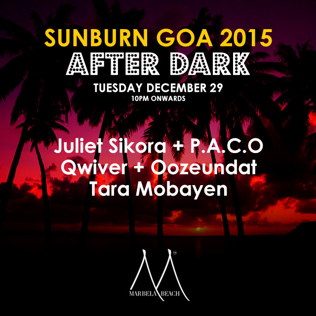 Tara Mobayen Sunburn Goa After Dark Marbela Beach