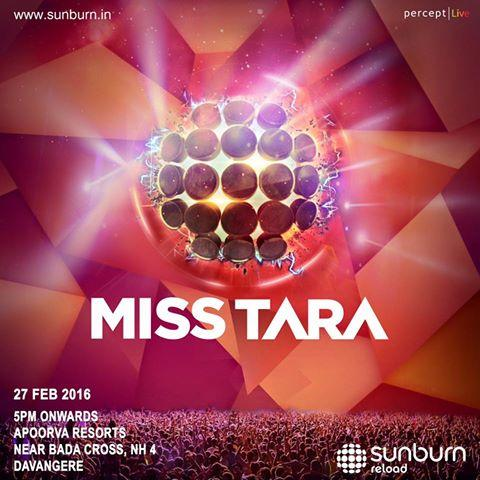 MISS TARA SUNBURN RELOAD FESTIVAL DAVANGERE INDIA