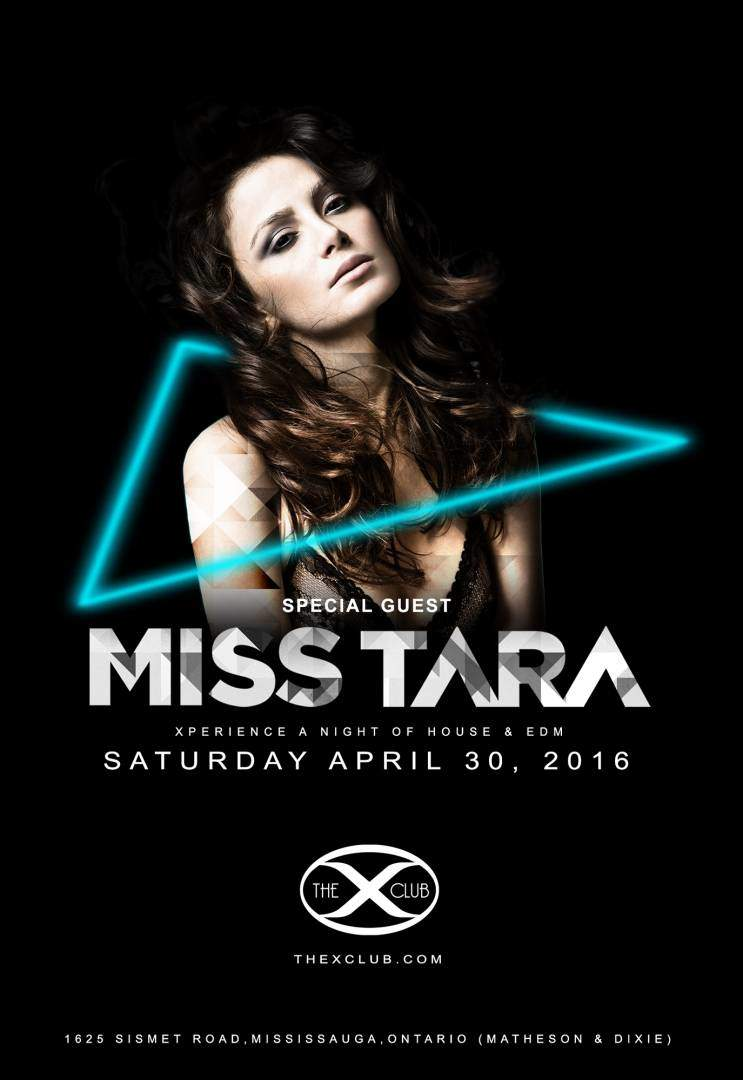 MISS TARA TheXClub Flyer