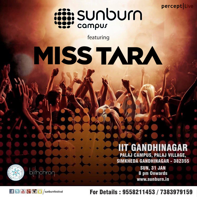 MISS TARA SUNBURN CAMPUS GANDHINAGAR INDIA